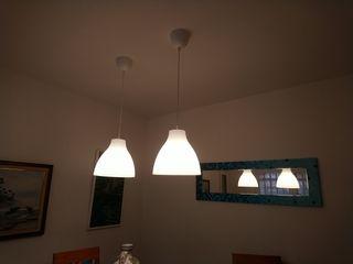 Lámparas Ikea.