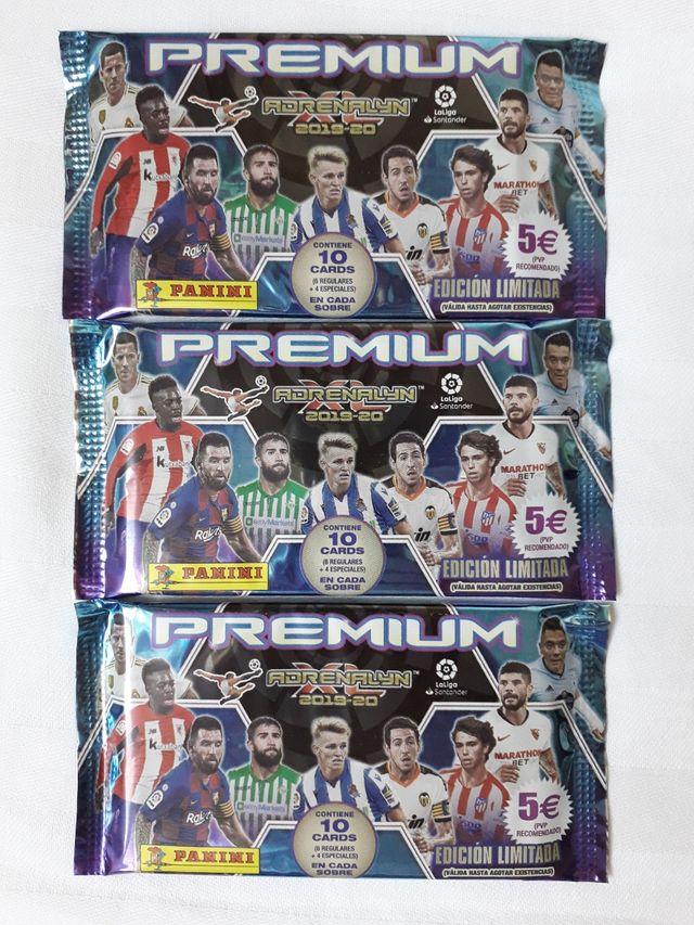 3 Sobres PREMIUM ADRENALYN Futbol 2019-2020