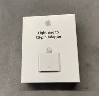 Apple MD823ZM/A adaptador cable Lightning 30-pin