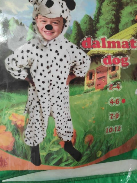 Disfraz Dálmata 4-6 años