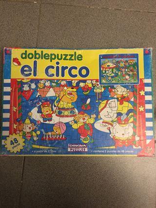 """Doble puzzle """"El Circ"""" 48 peces"""