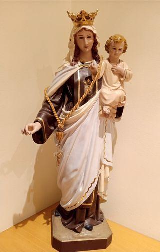 Virgen del Carmen antigua arte de Olot 1930/40