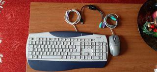 Teclado,Ratón y cable adaptador