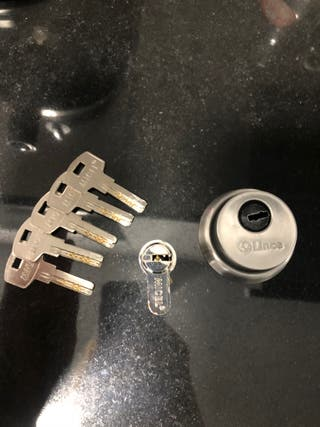 Cerradura de seguridad y escudo metálico Micel