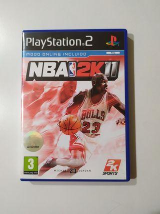 JUEGO NBA2K11 PLAYSTATION 2- NUEVO -