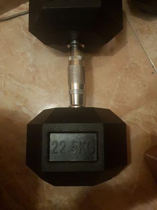 Dos mancuernas de 22.5KG