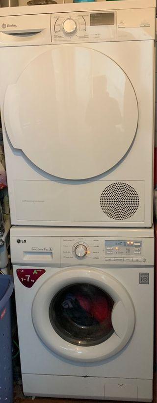 Lavadora LG y Secadora Balay