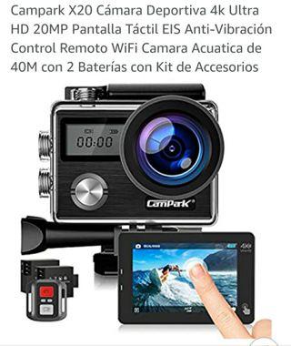 BAJADA DE PRECIO Camara Campark X20 4k ultra HD