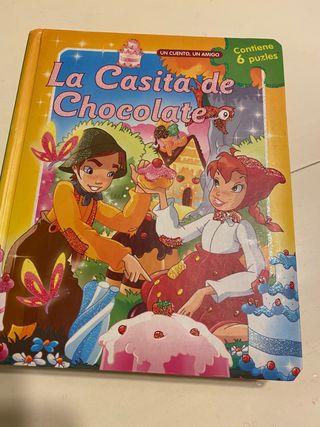 Libro puzzle infantil de La casita de chocolate