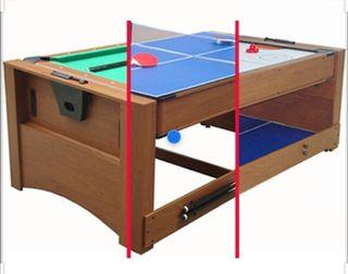 Mesa de billar, ping-pong y air hockey