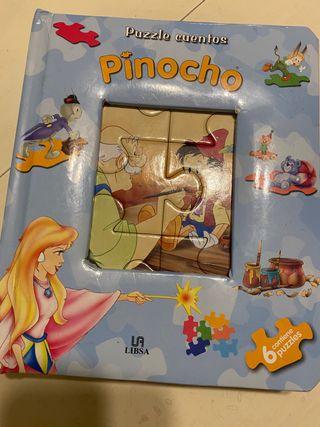 Libro puzzle infantil Pinocho