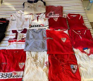 Colección camisetas de colección del Sevilla FC