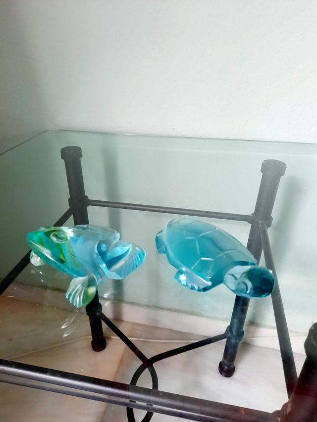 Figurillas mejicanas de cristal de roca.