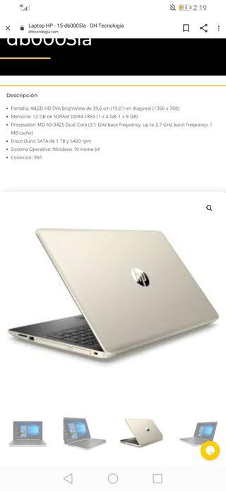 LAPTOP HP Modelo 15-db0005la