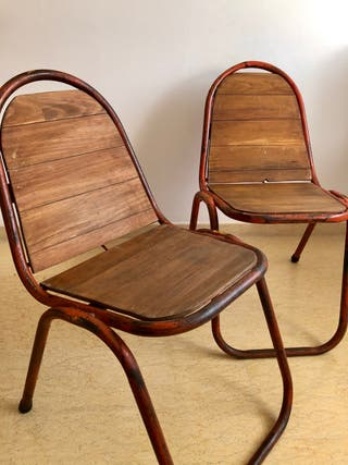 Pareja de sillas industriales
