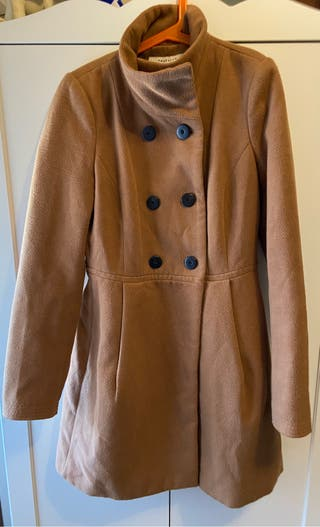 Abrigo zara color camel talla xs