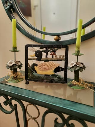 Conjunto atril + dos candelabros