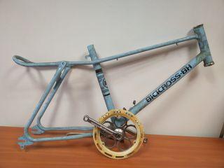 Cuadro bici bh bicicross azul