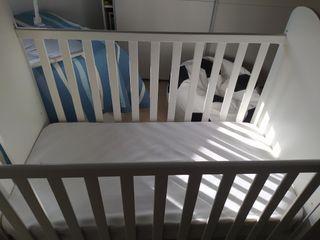 cuna bebe + protector+edredon (relleno)