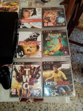 chollo!!!!playstation3 seminueva.3 mandos 21juegos