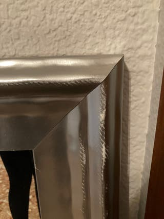 Espejo marco madera plata. REBAJADO