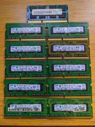 Samsung orig 10 Módulos RAM 2 GB DDR3-1333 SO-DIMM