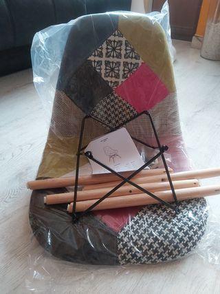 silla patchwork nueva