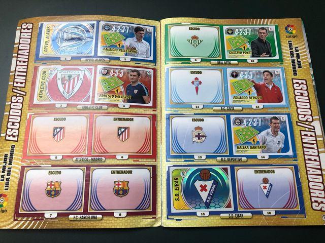 Álbum cromos fútbol 2016-17.
