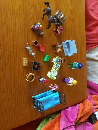playmobil familia muebles animales