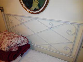 Cabecero de forja blanca cama matrimonio