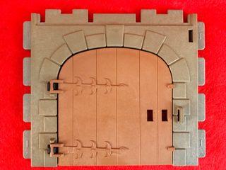 playmobil puerta castillo
