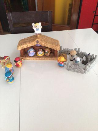 Misterio con los tres Reyes y animales.