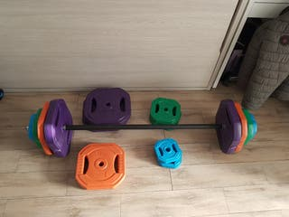 set de pesas body pump 65 kg total