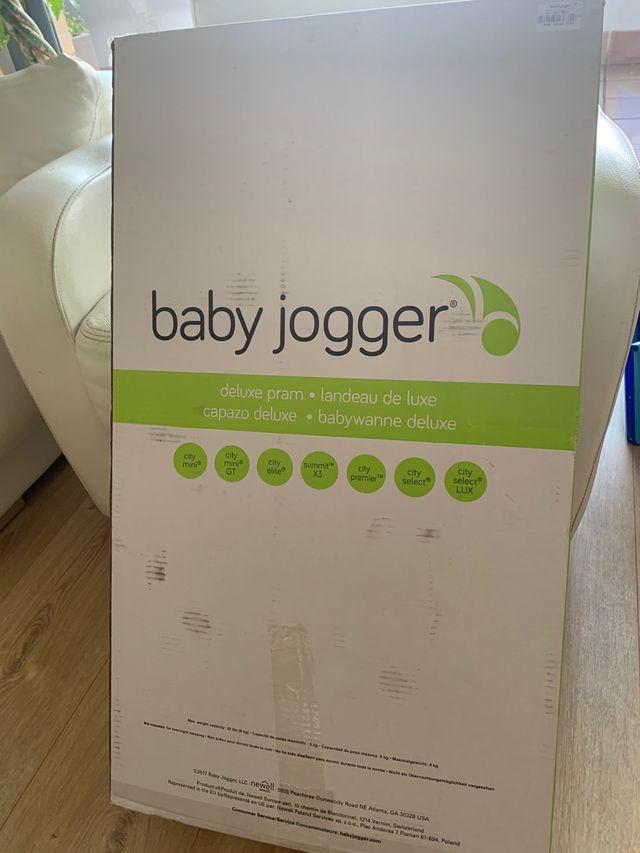 Capazo Baby Jogger Deluxe negro denim