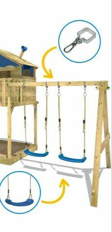 Columpios y estructura de madera. WickeySmartCoast