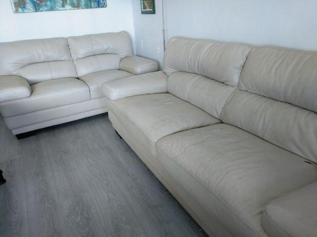 Sofás de 2 y de 3 plazas piel cuero