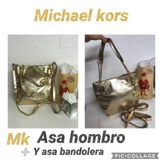 BOLSO piel DORADO MICHAEL KORS NUEVO