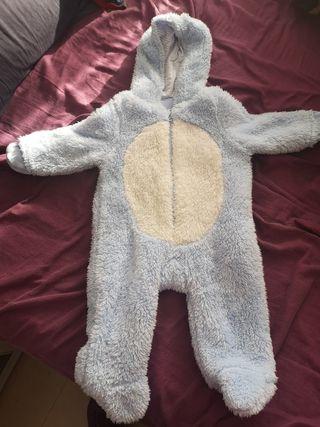 pijama manta 3/6 meses 68cm