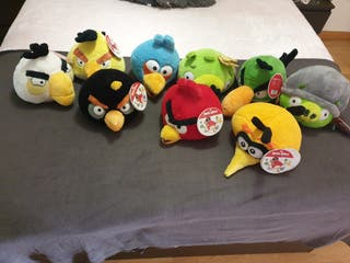 Lote 9 peluches angry birds