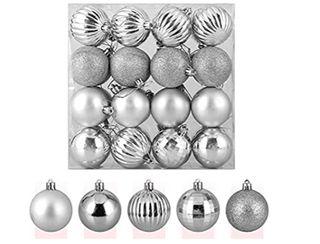 bolas de árbol plateadas 32 piezas a estrenar