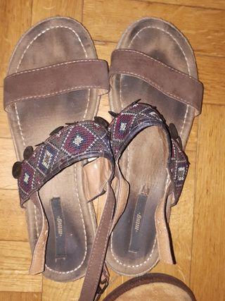 sandalias marrones talla 41