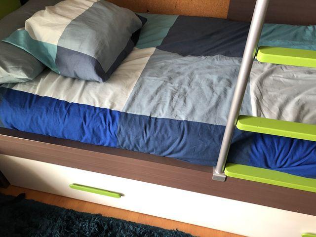 Cama tren dormitorio infantil-juvenil
