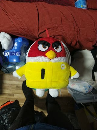 ANGRY BIRDS PELUCHE ROJO.