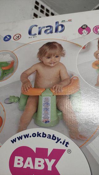 Asiento bañera bebé Crab