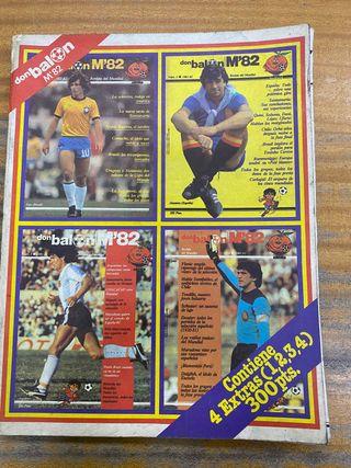 Revista fútbol Don balón Mundial 82 naranjito