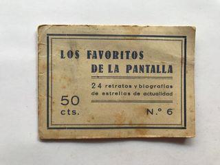 CINE CROMOS (24) ACTORES Y ACTRICES (h.1945?)