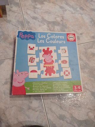 puzzle colores peppa pig