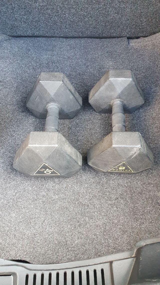 2 Mancuernas hexagonales 10 kg
