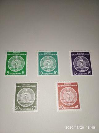 sellos de la DDR nuevos año 1956 serie completa