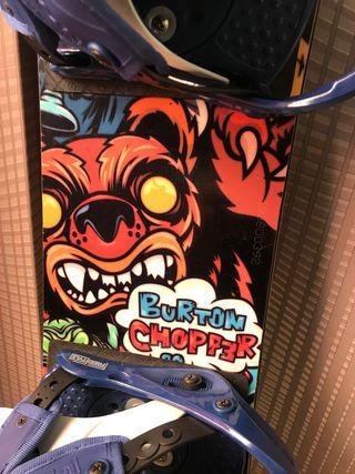 Tabla Snowboard burton chopper infantil 90